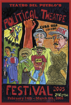Political Theater Festival Poster done for small theater in Saint Paul